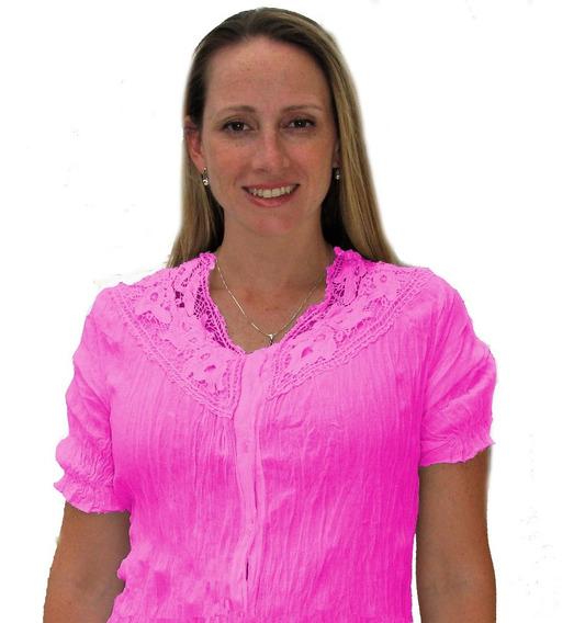 Camisa Mujer Citrico Hindú Talles Grandes Mythos