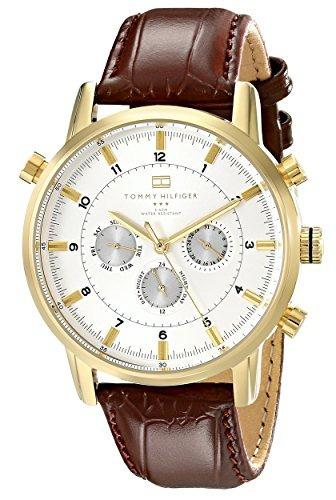 Reloj Tommy Hilfiger De Hombre De Oro 1790874 Con Banda D...