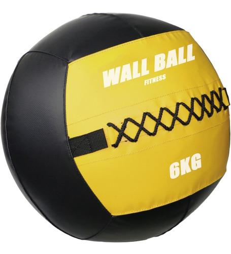 Imagen 1 de 4 de Wallball 6kg / Pelota Medicinal / Crossfit Diametro 35cms