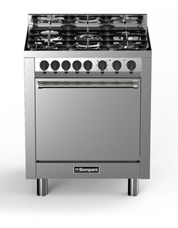 Cocina Bompani Bo793dc/n 70 Cm Mixta Acero Inoxidable