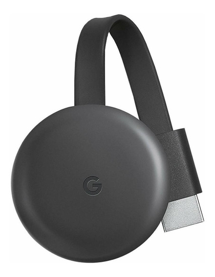 Streaming media player Google Chromecast 3rd Generation carvão com memória RAM de 512MB