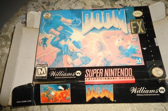 Encarte Capa Doom Original - Super Nintendo