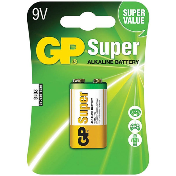 Bateria 9v Super Alcalina Gp Batteries