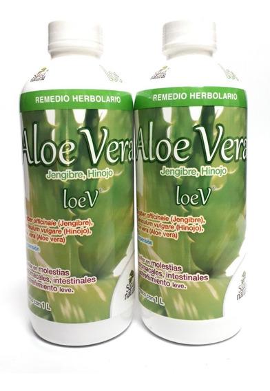 Loev Aloe Vera Gengibre Hinojo Salud Natural (2 Pz)enviofull