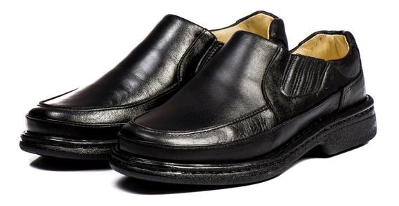 Sapato Masculino Ortopédico Social Antistress Couro Legitimo