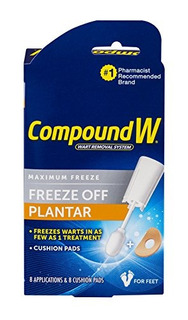 Compound W-maximum Freeze-freeze Off Plantar -8 Aplicaciones