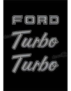 Kit Emblema Adesivo Ford F1000 Turbo Em Prata F10009