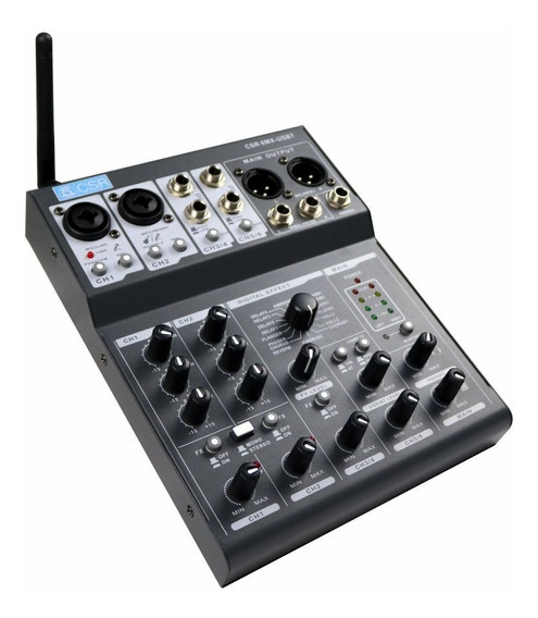 Mesa De Som Bluetooth Usb Mixer Digital 6 Canais 6mx Usbt Nf