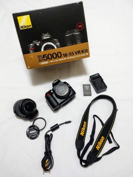 Nikon D5000 18-55 Mm + Bolsa Super Nova!!! Cliques 20674.