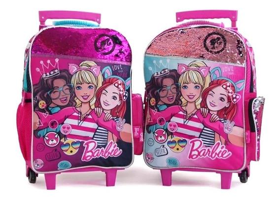 Mochila Barbie Mascota Con Carro 20 Pulgadas