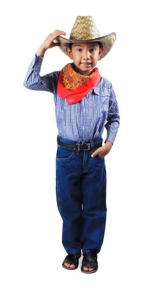 Camisa Tipo Vaquera Para Niño Talla 10 A La 16