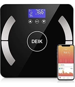 Deik Bluetooth Body Fat Scale, Smart Bmi Bathroom Scale With