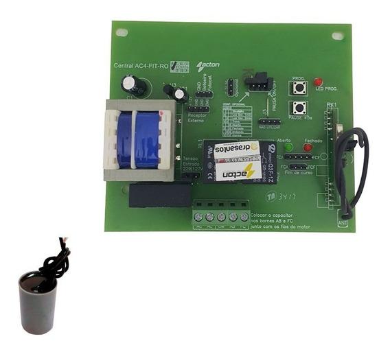 Capacitor + Placa Central Motor Portao Sensor Hall P/ Rossi