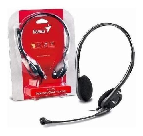 Diadema Con Micrófono Sencillo Genius Hs-200 C
