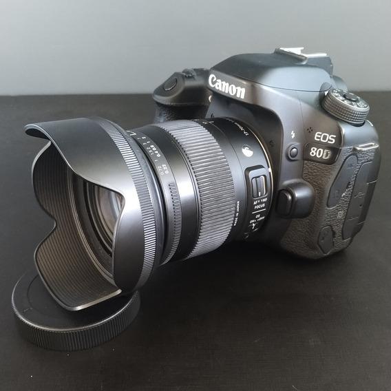 Canon Eos 80d + Lente Sigma 17-70 F2.8-4 Câmera Profissional