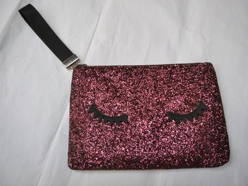 Imagen 1 de 4 de Bolsa Clutch Glitter Brillo  Mango Mng