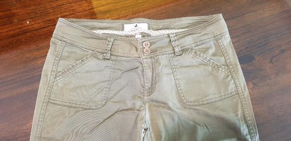 Pantalon Recto De Tela Fresca Santa Barbara
