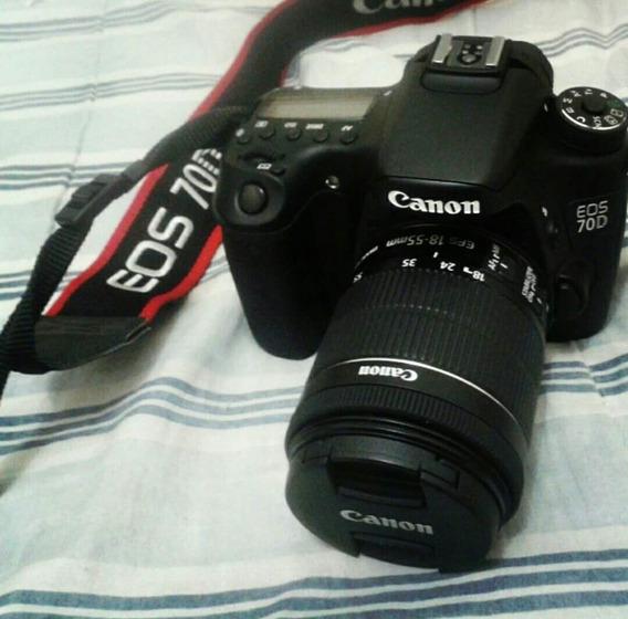 Camera Fotográfica Canon 70d Com Lentr 18_55