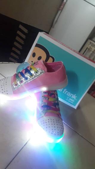 Zapatos Paul Frank Niñas Con Luces Multicolores Originales