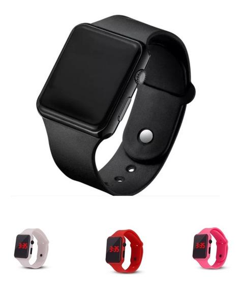 Relógio Masculino Feminino Led Digital Watch Preto Promoção