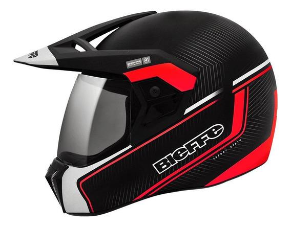 Capacete para moto integral Bieffe 3 Sport Stato vermelho tamanho 56