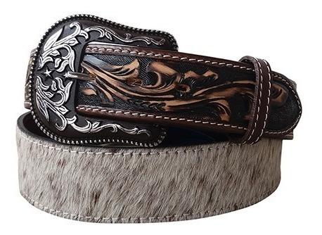 Cinto Country Couro Legítimo Com Pêlo Arizona Belts 7090