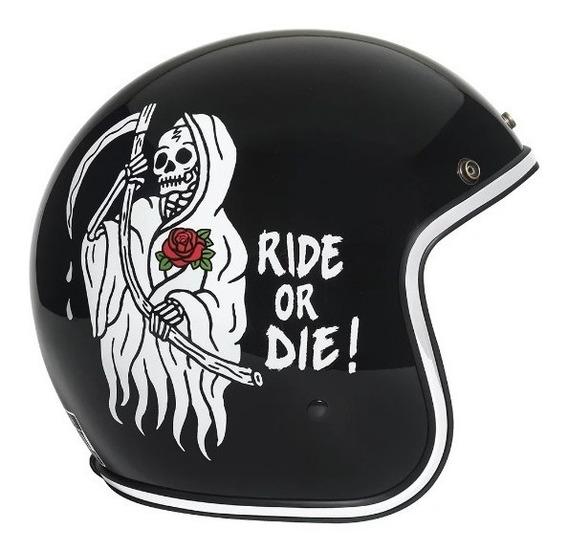 Capacete Urban Helmets Caveira Ride Or Die