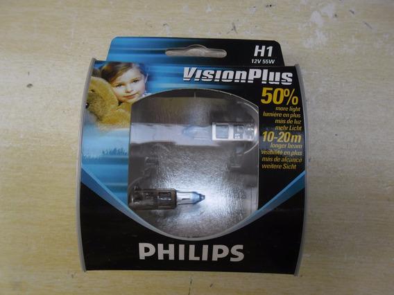 Lampada H1 12v Vision Plus 50% + Luz Philips 12258preço Par