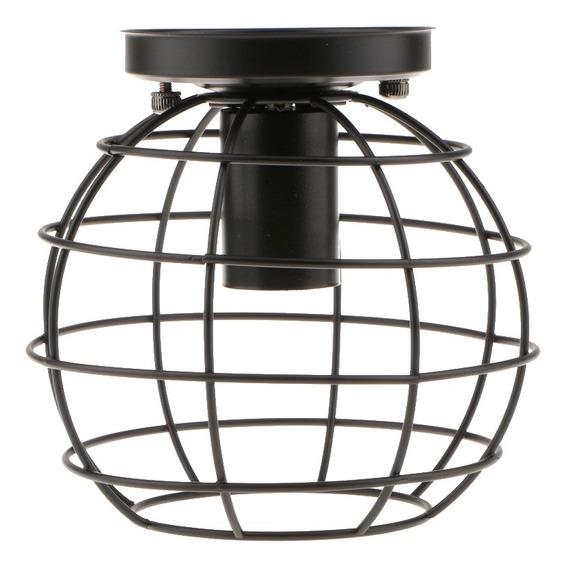 E27 Vintage Lámpara Colgante De Hierro De Techo Decoración