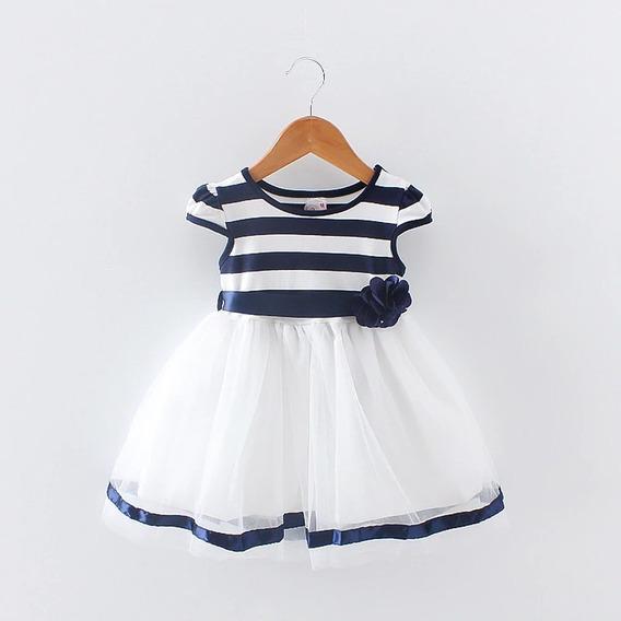 Vestido Fiesta Falda Tul Polera Algodón Ropa Bebés Niñas