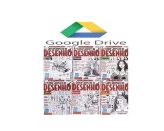 Curso De Desenho 16 Revistas Completas