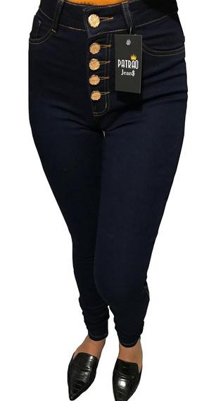 Calca Jeans Feminina Skinny Com Lycra Quatro Botoes Tam 36