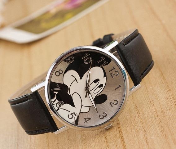 Relógio De Pulso Adolescente/criança Mickey Mouse Preto