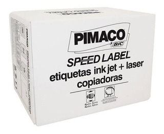 Etiqueta Pimaco Speed Label Carta 25,4x66,7 Com 30.000 Un