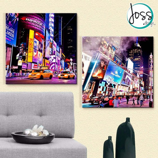 Cuadros Decorativos Joss Design Broadway Set De 2 Pzs 30x30