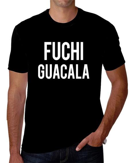 Playera Estampada En Serigrafía De Fuchi Guacala Wacala