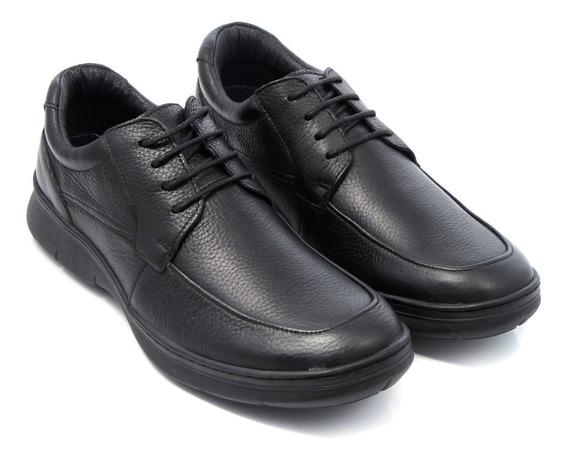 Zapatos Storkman Cuero Hombre Clasico Acordonado Confort