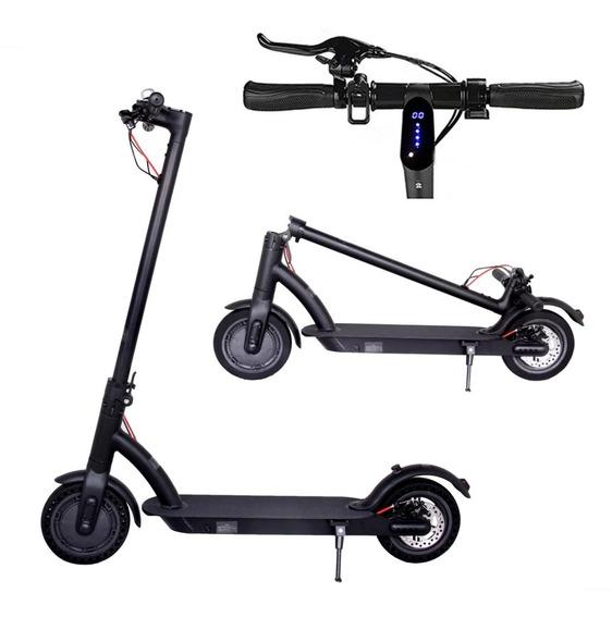 Monopatin Electrico Scooter Luces 30km Plegable En 6 Cuotas