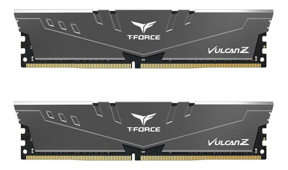 Memoria Ram 16gb Teamgroup T-force Vulcan Z Ddr4 Kit (2 X 8gb) 3000mhz (pc4 24000) Cl16 Modulo - Gray - Tlzgd416g3000hc1