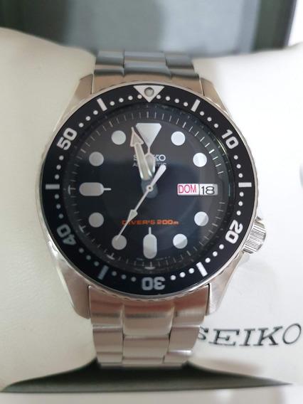 Relógio Seiko Skx013k1 38mm Automático Com Pulseira Aço