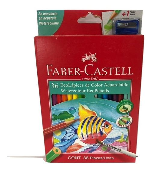 Lapices De Color Acuarelables Faber Castell X 36