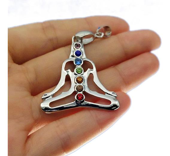 Collar 7 Chakras Meditacion Reiki Mandala Flor De Loto Yoga