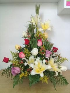 Rosas, Arreglo Floral, Flores Naturales, San Valentin