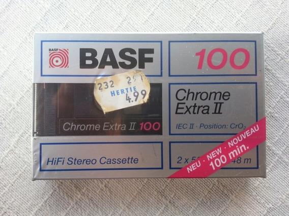 Fita K7 Cassete Basf Chrome Extra 100 Minutos Lacrada