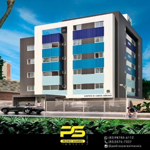 Apartamento Com 2 Dormitórios À Venda, 50 M² Por R$ 139.900,00 - João Paulo Ii - João Pessoa/pb - Ap3046