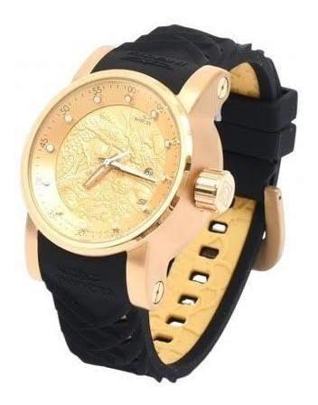 Relógio Invicta Yakuza Preto E Dourado