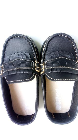 Kit/03 Sapatos Infantil Mocassim De Couro Preto Presente