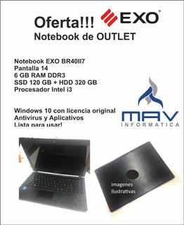 Notebook I3 Exo - Ssd 120 + Hdd 320 6gb Ram Outlet