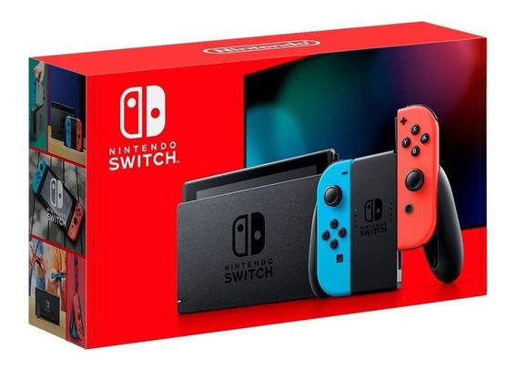 Console Nintendo Switch Plus Modelo Novo 2019 - Neon