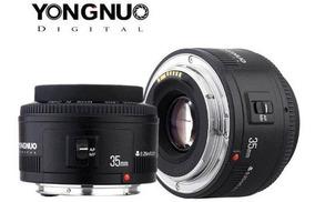 Lente Yongnuo 35mm Para Canon Dslr Melhor Custo Beneficio T